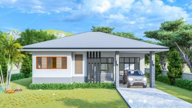 Picture of Modern Single Storey House Design in Refined Grey Shade