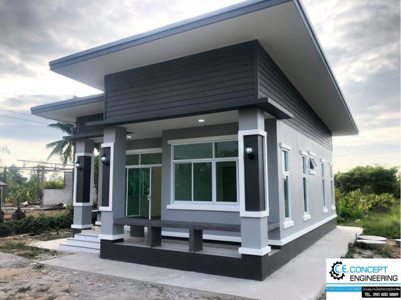 Picture of Stylish One Level House Plan with Unique Concepts
