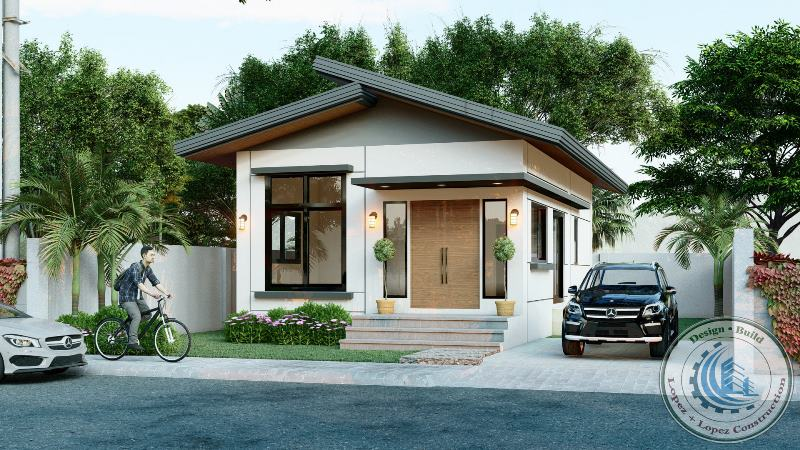 Picture of Contemporary Bungalow House in a Narrow Lot