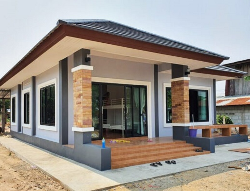 Picture of Single Storey Modern House Design with Two Bedrooms