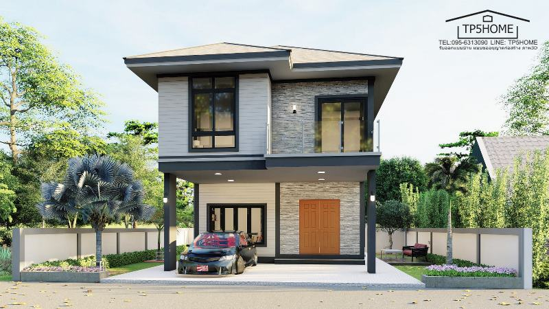 Picture of Two Storey Residential House with Enticing Charisma
