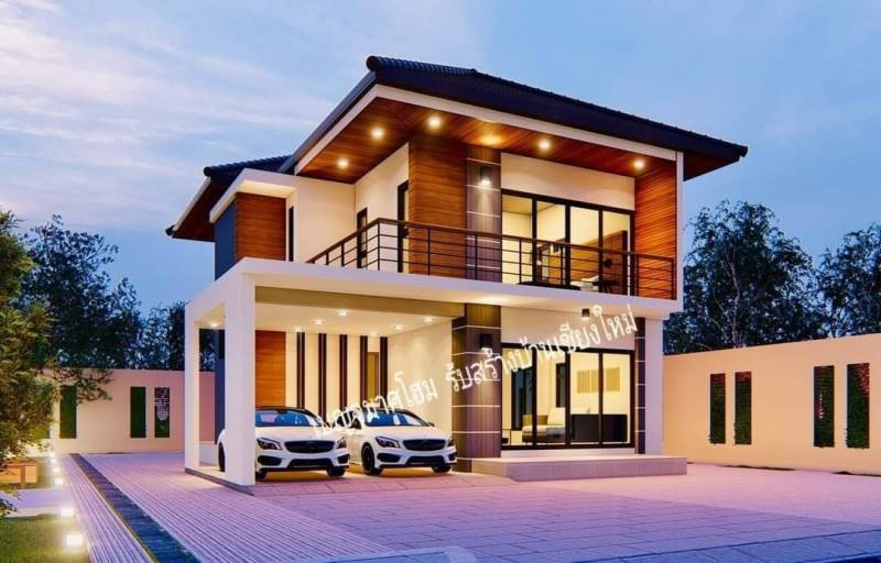 Picture of Modern Exterior Design of a Magnificent Two Storey House