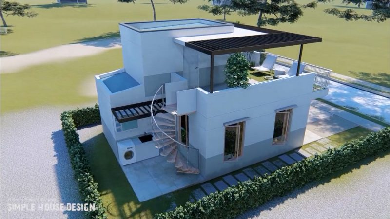 Picture of Modest One Bedroom House with a Roof Deck